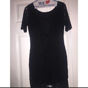 SAGE Little Lace Black Dress
